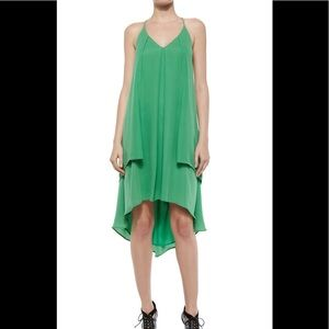 NWOT Rebecca Mink-off Lena Tiered Silk slip Dress